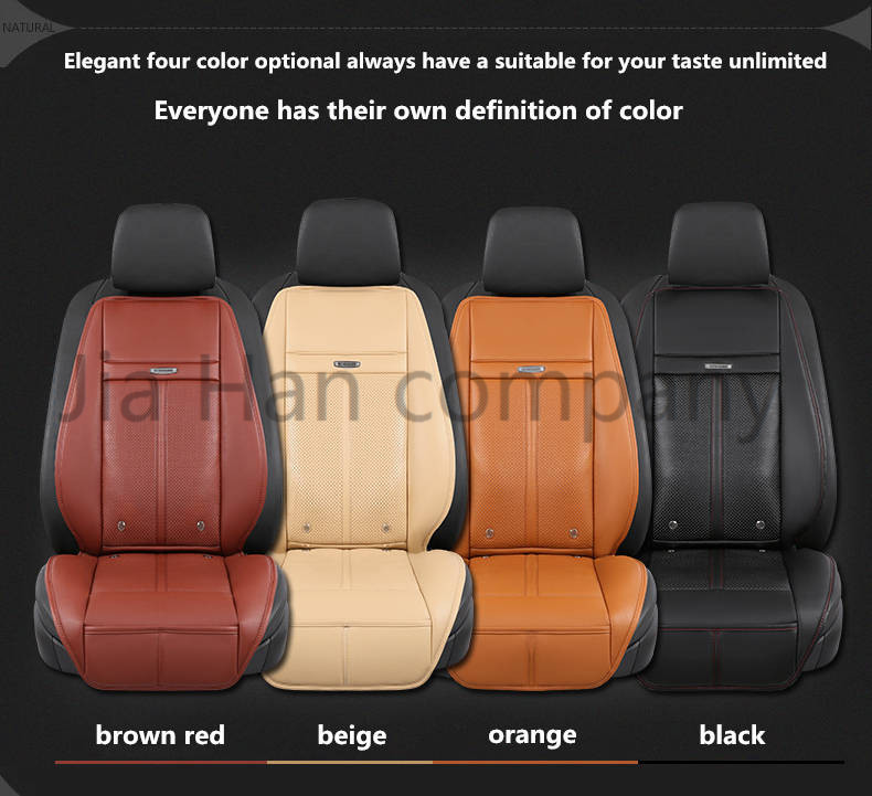 цена 2018 function PU leather car cushion electric air cooling temperture control/massage/heating/anion four in one car seat cover