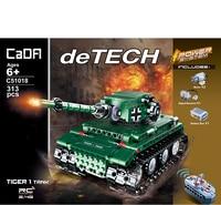 Technic Series War Weapon RC Tank Bricks Vehicles Building Blocks Army Educational Toys For Children Brinquedos legoE military