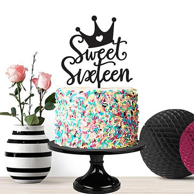 Sweet 16 Birthday Cake Topper Sixteen Milestone BirthdayCraft Gift 16th