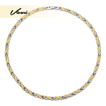 Vivari Healthy Magnetic Therapy Long Necklace Women Display Link Chain Stainless Steel Silver Color Luxury Necklaces