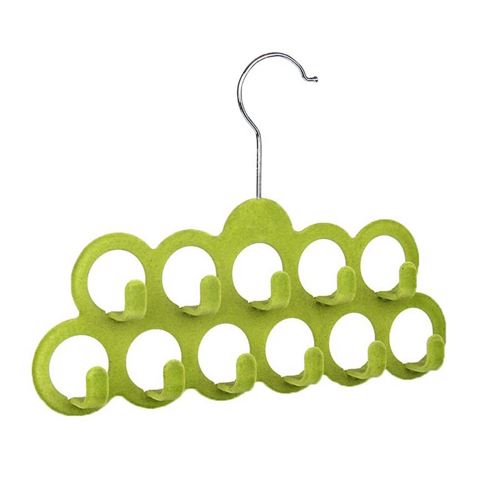 HOT GCZW-Multifunctional Scarf Hanger with 11 Hooks in Flocking, Random Color