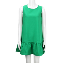 Summer Sleeveless Casual Ruffles Women Dress