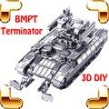 Presente de natal russo BMPT tanque 3D do favor do Metal modelo dos homens coleção DIY pedaço liga Up Game qi jogo de construção brinquedos divertidos