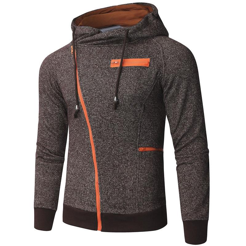 Fashion Mens Sweatshirts Long Sleeve Hoodies Slim Fit Hooded Man Outwears Zipper Hoodie Mens Clothing Hoody Hombre Tracksuits
