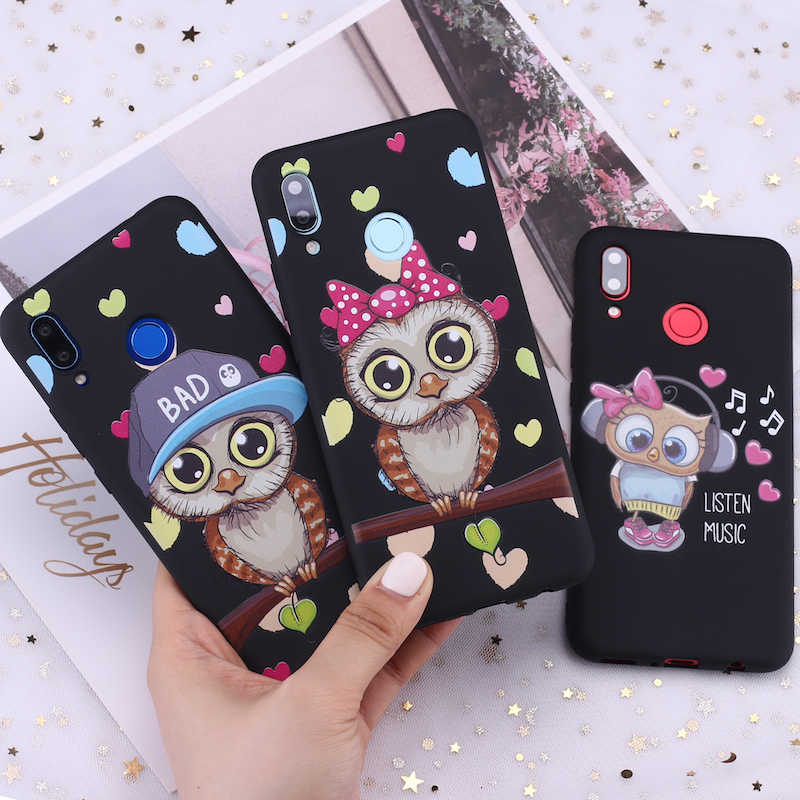 For Samsung S8 S9 S10 S10e Plus Note 8 9 10 A7 A8 Baby Cute Owl Lover Cartoon Candy Silicone Phone Case Cover Capa Fundas Coque
