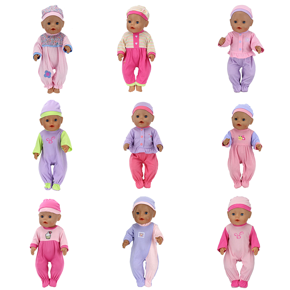 Fashion Outfits Wear For 43cm Zapf Baby Doll 17 Inch Reborn Babies Clothes