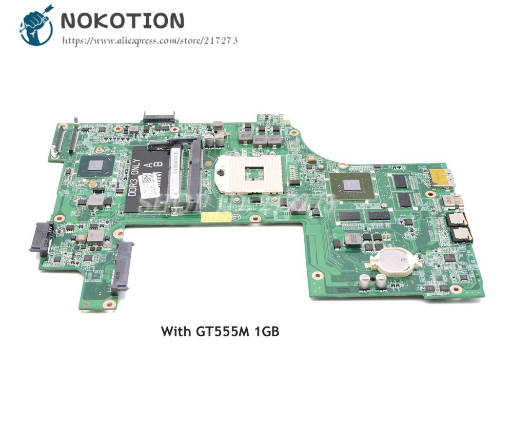NOKOTION For Dell Inspiron 17R N7110 Laptop Motherboard DAV03AMB8E0 CN-037F3F 037F3F 37F3F HM67 DDR3 GT555M 1GB цены