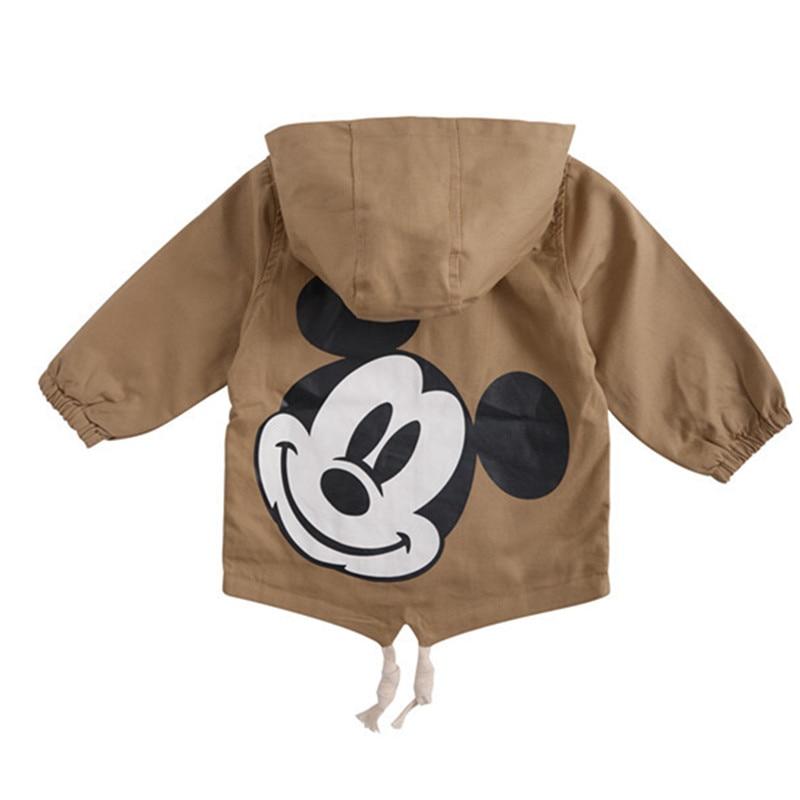Girls Jackets Coats Windbreaker Spring Autumn Mickey Three-Colour Kids Children Outerwear
