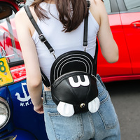 3D Mickey Minnie Ear Hat Shape Backpack Personalized Cartoon Buns Shoulder Bag Punk Street Style Cool