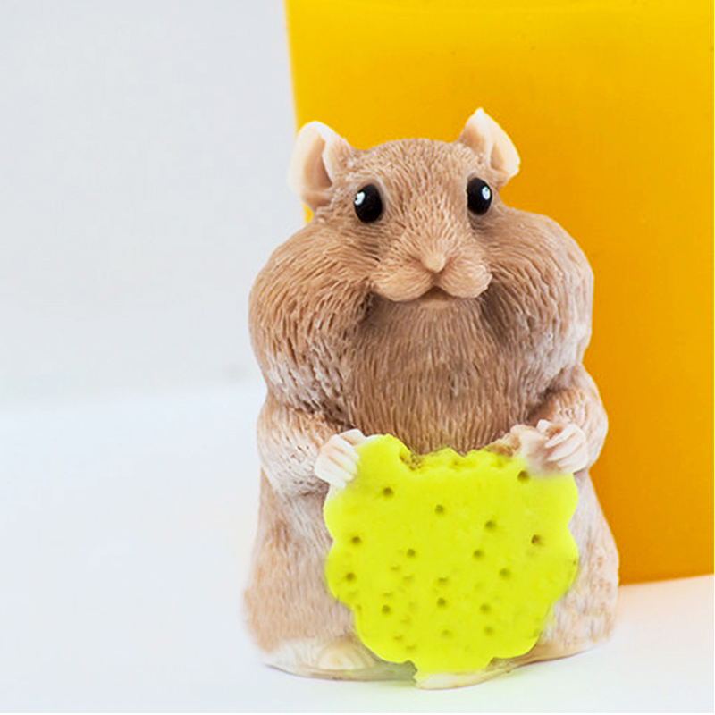 US $9 24 16% OFF|Hamster Silicone molds soap mold Hamster 3d silicone soap  molds3d Hamsters silica gel die 3D Aroma stone mould candle mould-in Cake