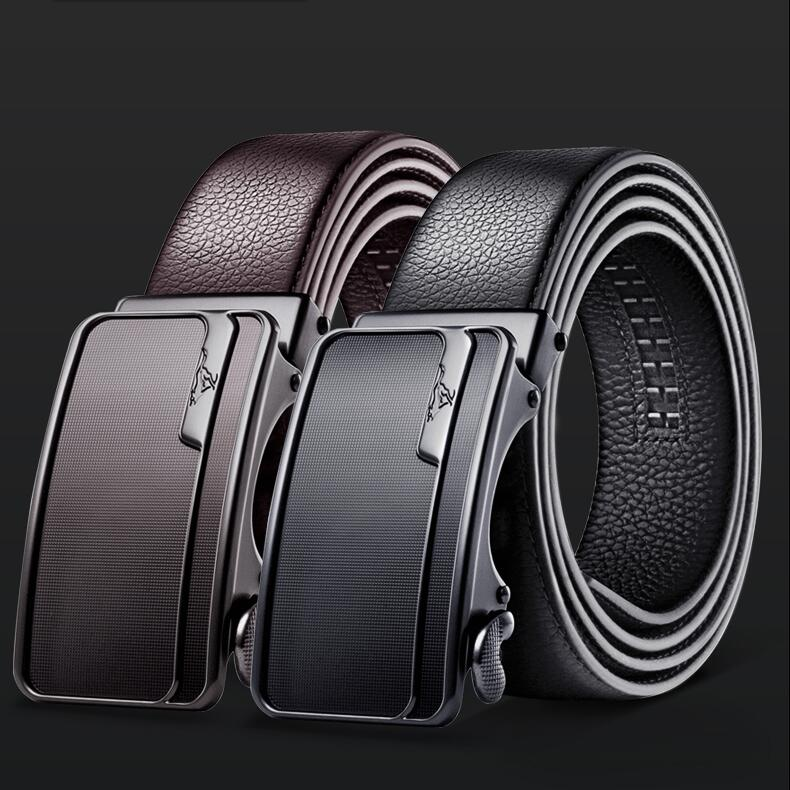 High Quality Luxury Belt Genuine Leather Belts for Men Strap Gentleman Metal Automatic Buckle Bull cow Skin Brand Belt Male