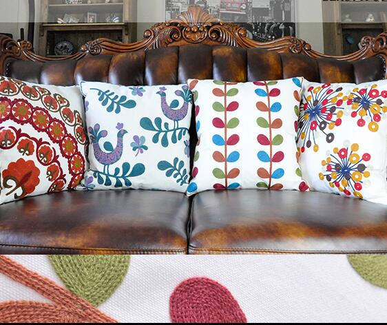 Aliexpresscom buy custom made cotton floral embroidery for Sofa cushion covers made to order