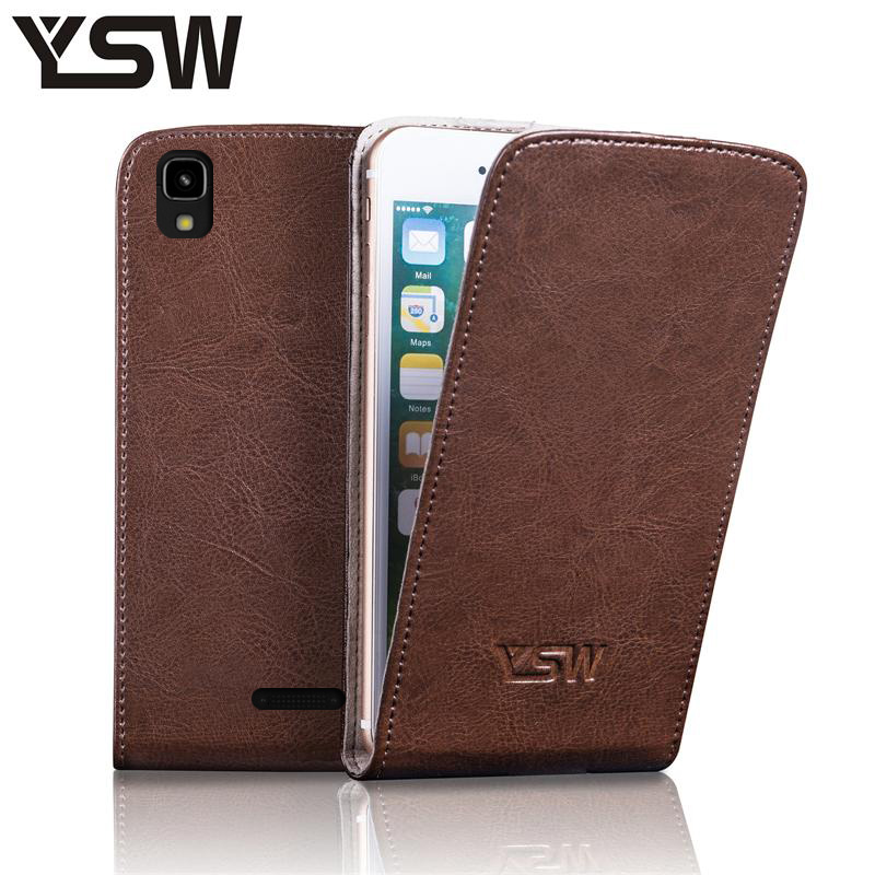 YSW For Prestigio Grace R5 LTE PSP555 Genuine Leather Case Luxury Free Gift With Screen Protector Shell Suction Buckle Cover