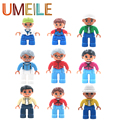 UMEILE Original Duplo Classic 9 Style City Family Figure Large Particle Building Blocks Enlighten Toys Assemble Brick Gift