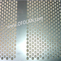8.0mm Round Hole Punching Mesh Titanium Sheet Punching Filter Mesh Hotting Sales 500mm*1000mm