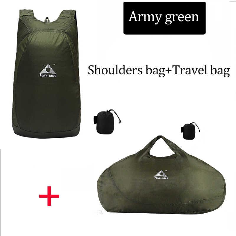 PLAYKING легкий нейлоновый складной рюкзак Водонепроницаемый рюкзак складная сумка портативный мужской и женский рюкзак для путешествий хозяйственная сумка