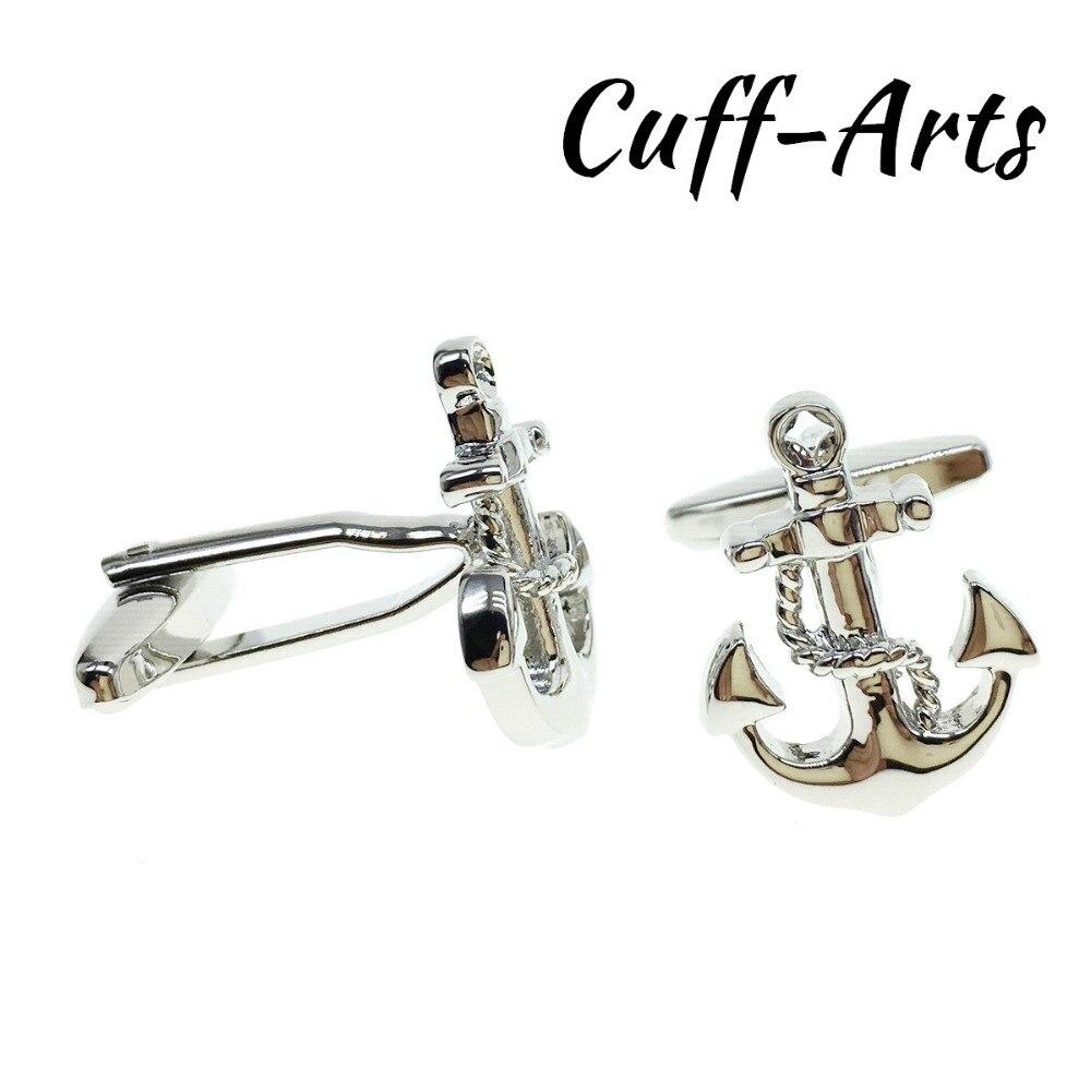401f1afc5f927 US $3.64 19% OFF|Cuffarts Luxury Cufflinks 2018 Trendy Nautical Anchor  Chain Cufflinks High Quality Cuff Links Jewelry Gifts For Men C10133-in Tie  ...