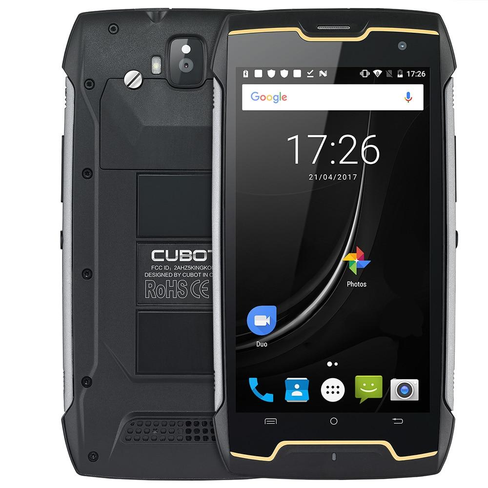 Original CUBOT Kingkong IP67 Mobile Phone Android 7.0 4400mAh 5.0'' MT6580 Quad Core Dustproof Waterproof 2GB+16GB 3G Smartphone