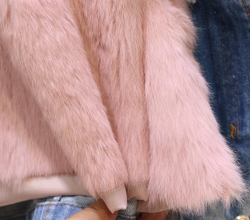 Dark Réel Fourrure Nouveau Coton Blue Intérieure Denim De Hiver 2019 Parkas Tirage Chaud Col Épaissie Cheveux gris Naturel Taille Lapin Veste blanc Fox Manteau rose YxREdxnAqw