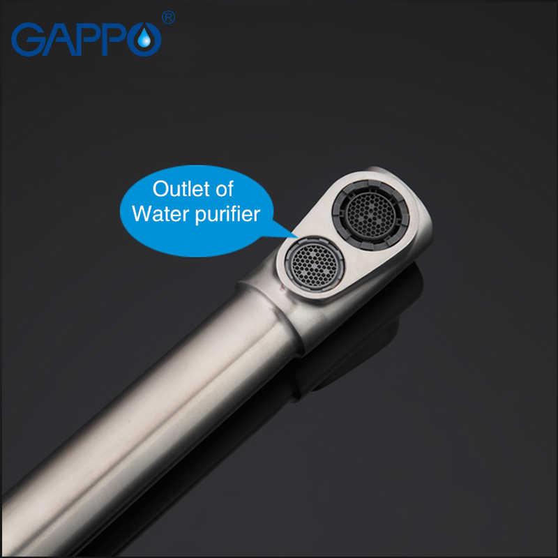 GAPPO baterie kuchenne z filtrowana woda krany ze stali nierdzewnej kran do picia mieszacz wody do zlewu wodospad krany griferia