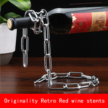 chain originality design Retro European style Red wine stents metal bracket sliver copper color