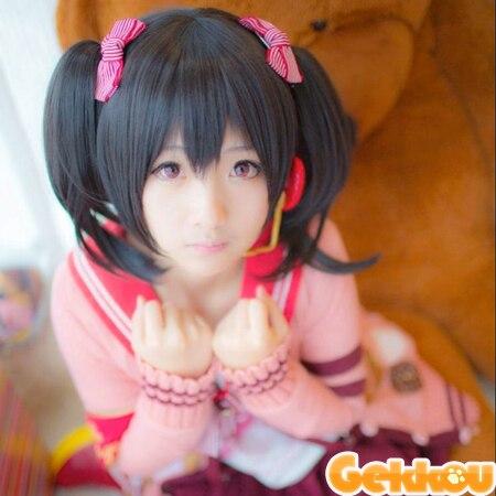Anime Love Live LoveLive! Yazawa Nico Full Cosplay Wig Two Ponytails Heat Resistent - HangZhou BOBO Co., Ltd store