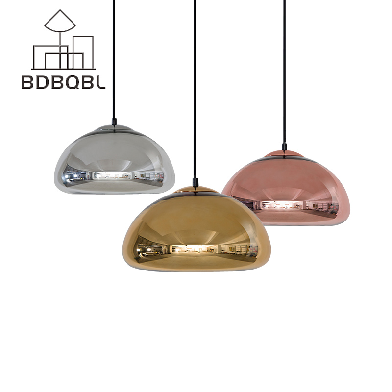 BDBQBL Modern Lampshade Glass Pendant Light Loft Lighting Dining Room Nordic Kitchen Restaurant Hanging Pendant Lamp Fixtures loft vintage industrial pendant light fixtures copper glass shade pendant lamp restaurant cafe bar store dining room lighting