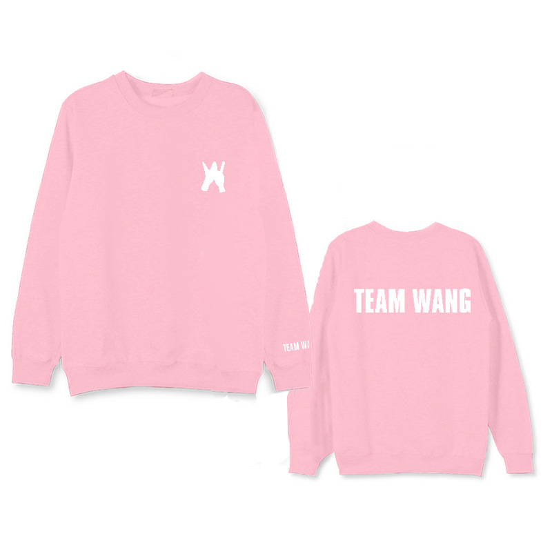 GOT7 wang jiar with the students men and women round collar fashion sweatshirt. Hooded sweatshirt with hoodie.
