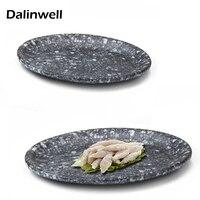 14 Imitation Ceramic Snack Dish Hard Plastic Salad Cuisine Pastry Serving Platter Kitchen Container Crockery Kit