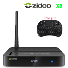 ZIDOO X8 TV BOX Android 6.0 + OpenWRT(NAS) Realtek RTD1295 2G/8G 802.11ac,2.4GHz,5.8GHz Wifi BT4.0 1000M Media Player