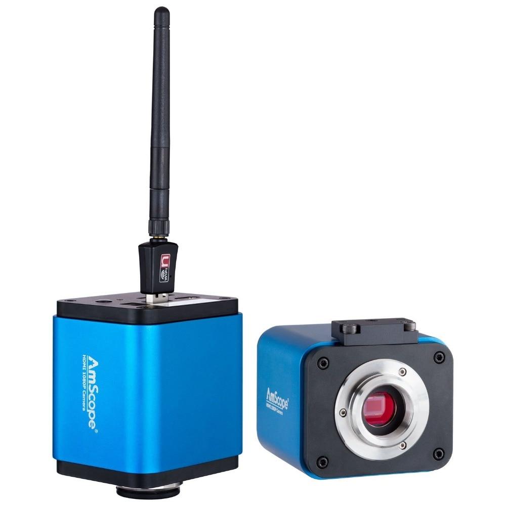 AmScope HD205-WU 5MP 1080 p HDMI WiFi Della Macchina Fotografica Digitale per Standalone e PC di Imaging