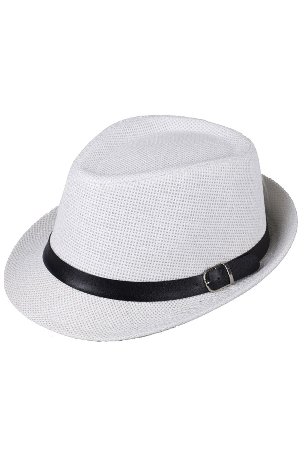 TOP Hat Boys Fedoras Trilby Cap Straw Beach Sunhat with Belt White ... 1c9f5958d90