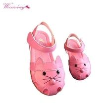 Детские летние сандалии; спортивная обувь принцессы для отдыха; обувь для девочек; сезон лето; Новинка; Baotou; детские сандалии