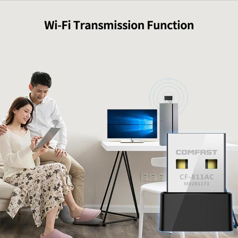 Image 5 - COMFAST CF 811AC 650Mbps Wifi USB Adapter 2.4+5.8GHz 1/2/5.5/11Mbps 6/9/12/18/24/36/48/54Mbps 200 433Mbps PC Network Card Dongle-in Network Cards from Computer & Office