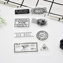 1sheet Vintage Postmark Craft Clear Stamps Scrapbooks Silicone Clear Stamps For Scrapbooking/Photo Album/Dairy Free Shipping 691