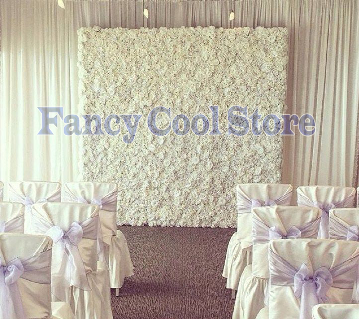 2 4m X 2 4m Pure White Wedding Flower Backdrop Flower Wall