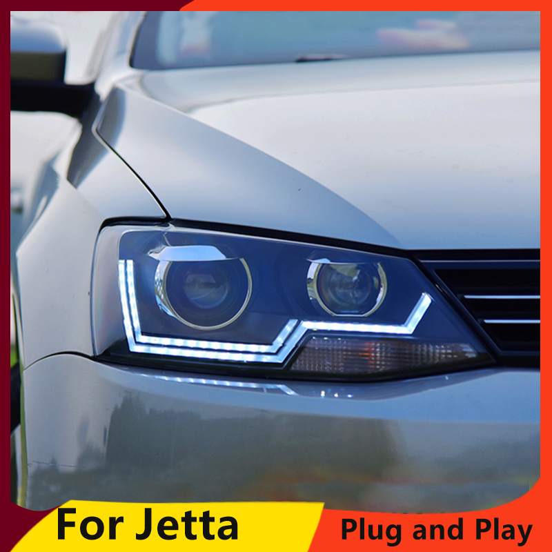 KOWELL Car Styling For for VW Jetta 2012 2017 LED head light LED Headlight DRL Lens