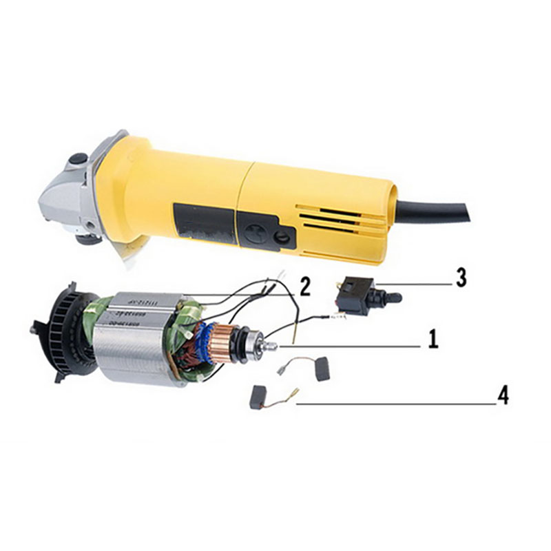 Tool Accessories Rotor Stator Carbon Brush Switch For DEWALT DW803 DW810 Angle Grinder Electric Mill rotor rechargeable impact wrench accessories for makita dtw450rfe stator bearing chassis handle switch gear shell carbon brush