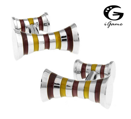 iGame New Arrival Cuff Links Double Sides Design Copper Material Mens Accessaries Wholesale&Retail Free Shipping