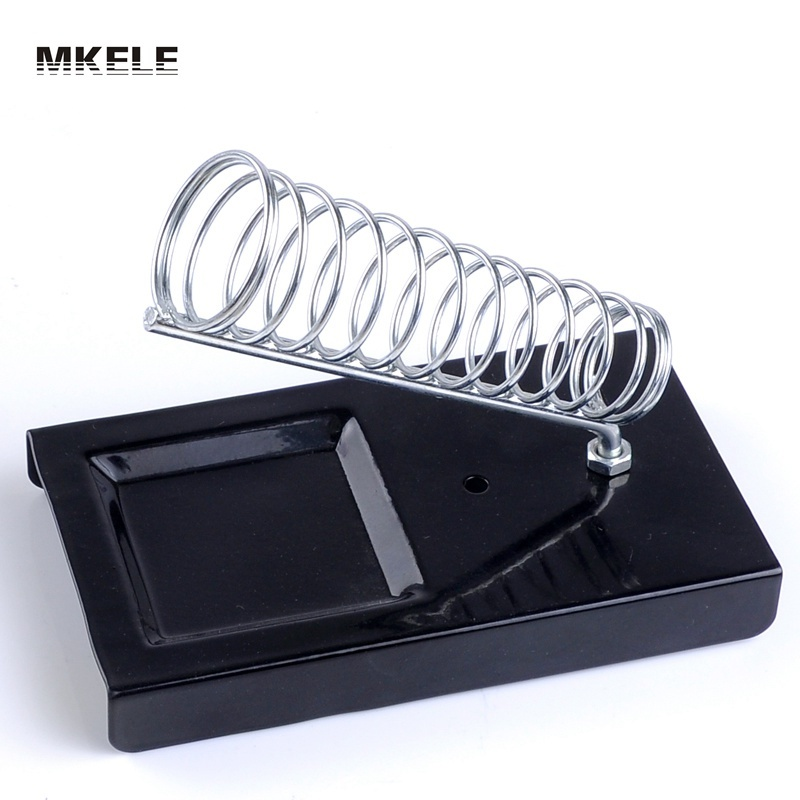 MKE-010 Soldering Iron Support Stand Station Metal Base Rectangle Stand Holder Base Support Station Safety Protecting Ba