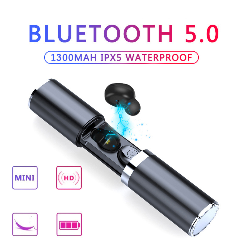Sans fil Bluetooth 5.0 écouteur Mini TWS Sport écouteurs avec boîte de charge casque stéréo micro Portable HiFi son de basse profonde-in Écouteurs et casques from Electronique    1
