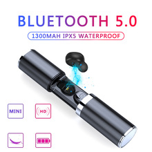 Wireless Bluetooth 5.0 Earphone Mini TWS Sport earphones with charging box headphones Stereo Mic Portable HiFi Deep Bass Sound