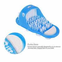 Limpieza de pies fácil limpieza de pies Spa zapatillas cepillo masajeador Limpieza de zapatos de baño ducha limpieza azul cuidado de los pies