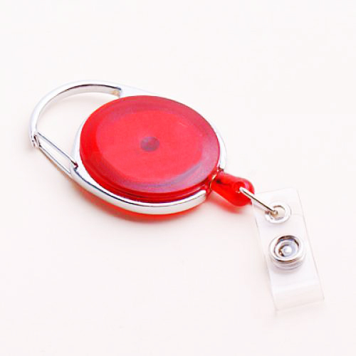 Oval Retractable Reel And Name Plate Clip