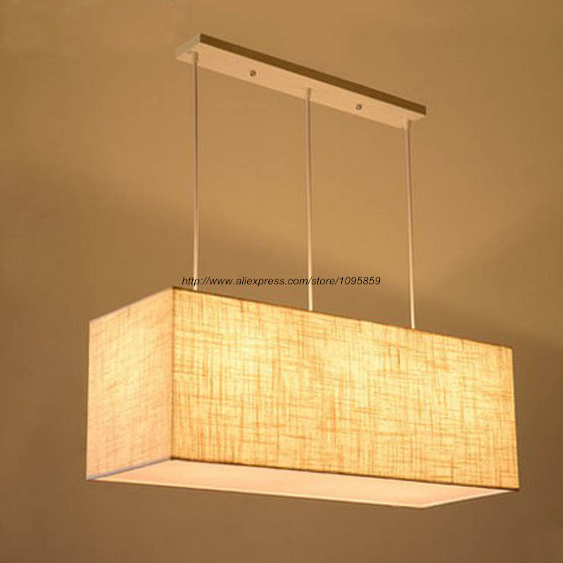 Free Shipping Modern Grey/Black Long Box Ceiling Hanging Lights Lamps Dining Room 3 Arms Linen Lampshade Lighting mochu 22215 22215ca 22215ca w33 75x130x31 53514 53514hk spherical roller bearings self aligning cylindrical bore