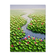 Buy hand painted lotus flower oil painting and get free shipping on tbm lotus flower hand painted oil painting on canvas mightylinksfo