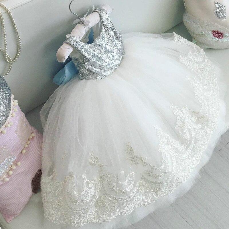 2019 Summer Sleeveless Girls Dress Baby Girl Clothes Blackless Floral Dress Wedding 2yrs Formal Sequin Dresses Sundress Clothing