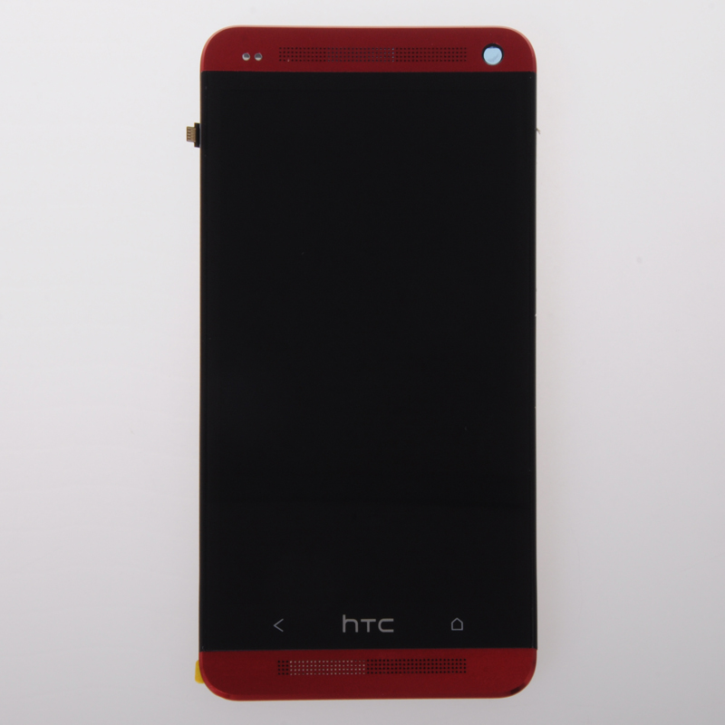 High Quality Original For Htc One M7 801e Lcd Display And Touch Screen Digitizer With Frame Red Color Freeshipping original cfg 8500le 000 801 9002 2r a 200 3004 4ra selling with good quality and contacting us