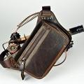 Fanny packs cintura causual bolsas couro do couro genuíno homem Moda saco pacote de cintura pequena bolsa de viagem carteira sacos para sacos de homens da cintura