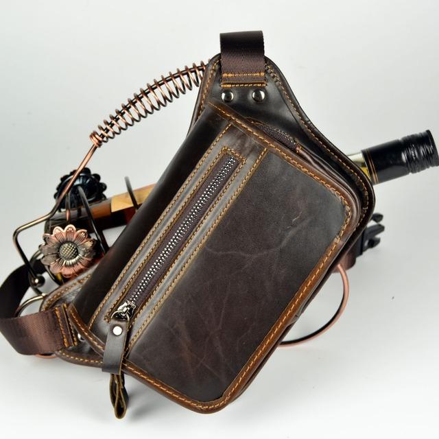 Paquetes de la cintura causual bolsas couro Moda hombre pequeño cintura viajes riñonera de cuero genuino cartera bolsos para hombres bolsos de la cintura